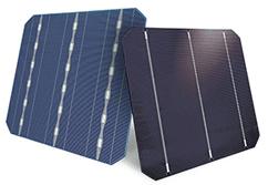 Ejemplo de Célula fotovoltaica SolarWorld con captación por ambas caras