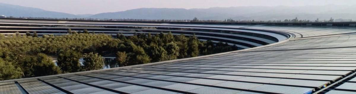 Los mejores paneles solares SunPower en la sede de Apple