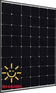 "Placa solar SHARP NQ-R256A con célula tipo ""SunPower"""