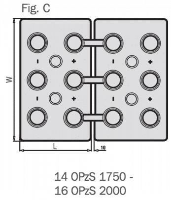 Batería monoblock para instalaciones de placas solares de 12V