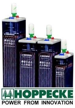 Ejemplo de baterías solares estacionarias de 2V cada vaso