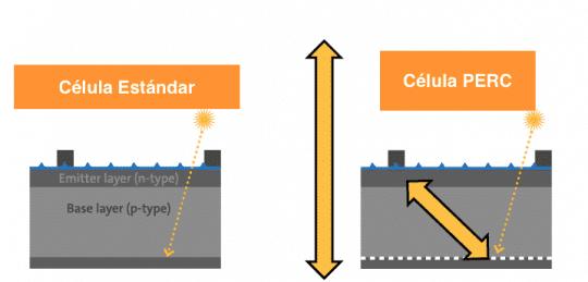Ejemplo de célula perc captación luz