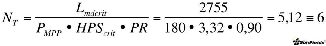 ecuación calculo número paneles fotovoltaica autonoma