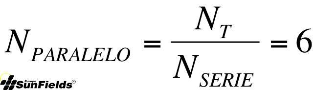 ecuación cálculo número paneles_paralelo fotovoltaica autonoma
