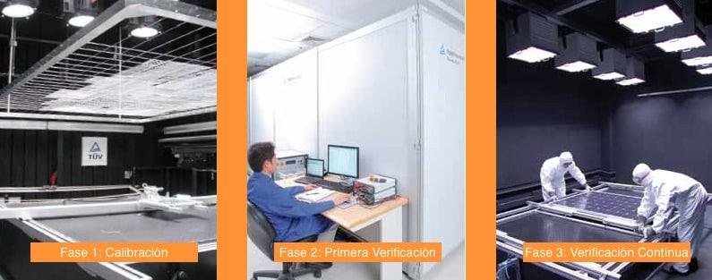 Fases verificación Power Controlled en placas fotovoltaicas