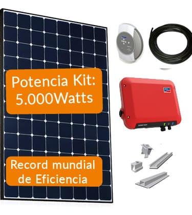 kit placas de solares de 5000w
