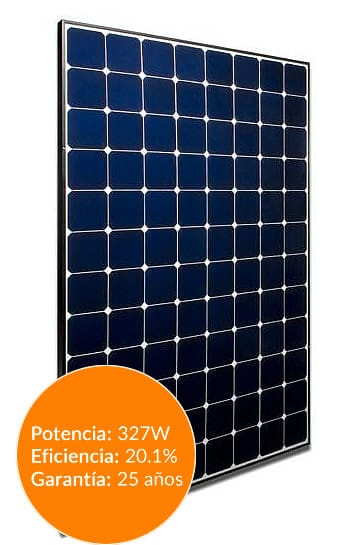 panel solar sunpower spr-e20-327