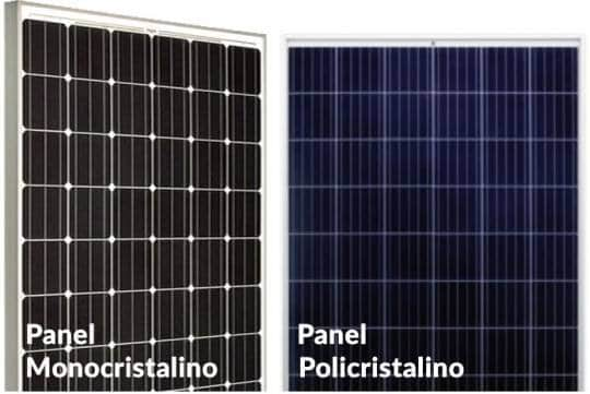 Tipos de paneles solares monocristalinos y policristalinos