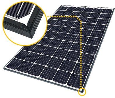 Paneles solares SolarWorld con Esquinas reforzadas y con sistema de drenaje
