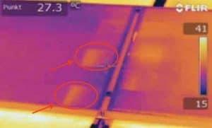 Puntos calientes en placas fotovoltaicas