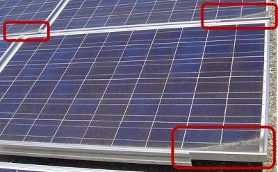acumulación suciedad paneles solares