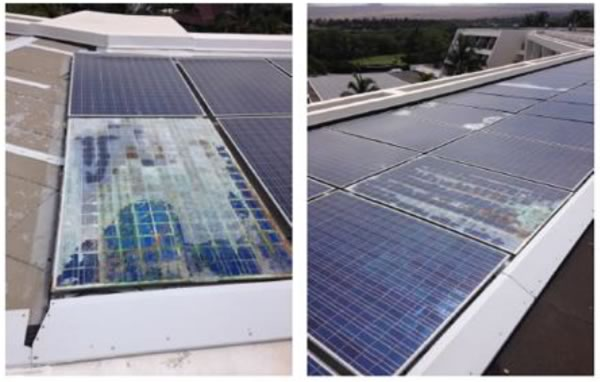 Placas solares Chinas con defectos graves de corrosión
