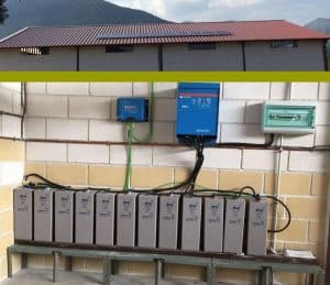 Suministro Proyecto fotovoltaico aislado 2.6kW con Baterías