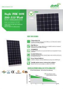 Hoja de Datos Jinko Solar Eagle 295-315W Mono-Perc