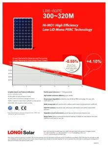 Panel Solar Longi-LR6-60PE_300-310M