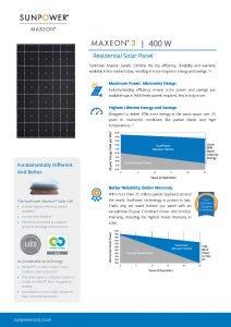 Panel Solar SunPower MAX2-MAX3