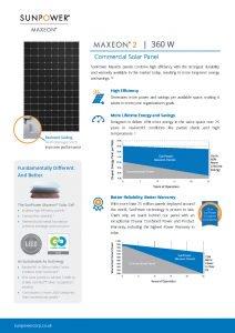 Ficha Técnica SunPower MAX2-360-350-340-COM