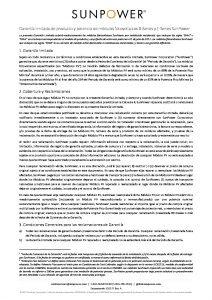 Garantía SunPower Maxeon Residencial