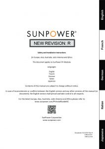 SunPower Safety and Installation Manual