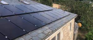 Instalación fv de placas solares Sun Power en tejado -2020