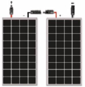 Esquema de conexión en serie de placas fotovoltaicas