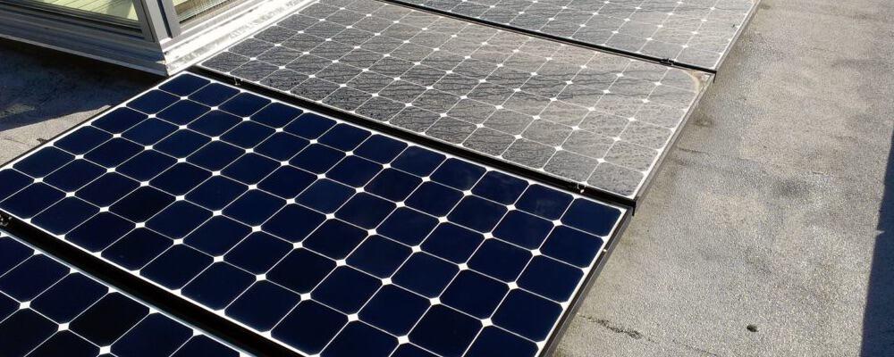 Placas fotovoltaicas sucias