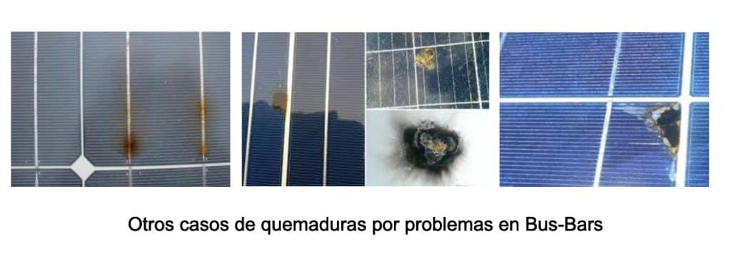 Más casos de paneles solares con problemas por bus bars