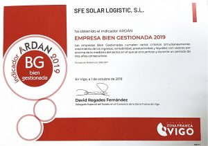 SunFields Empresa Bien Gestionada 2019 ARDAN