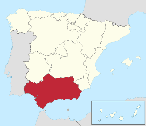 Comunidad de Andalucía en España