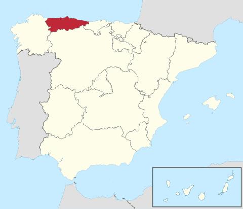 Comunidad de Asturias en España