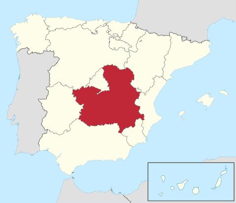 Comunidad de Castilla La Mancha en España