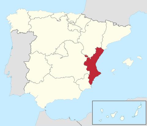 Comunidad Valenciana en España