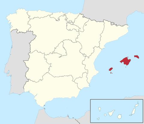 Comunidad Islas Baleares en España