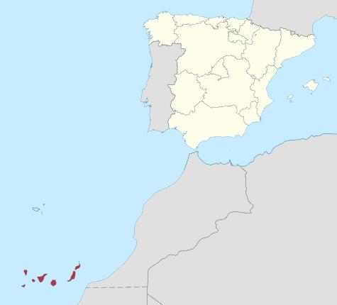 Comunidad Islas Canarias en España
