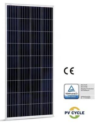 Placa solar de 12V para instalaciones fotovoltaicas con baterías