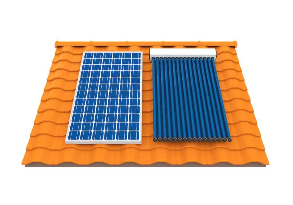 Panel Fotovoltaico y Panel Térmico
