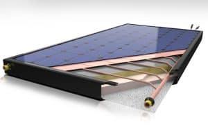 Panel solar híbrido, térmico y fotovoltaico