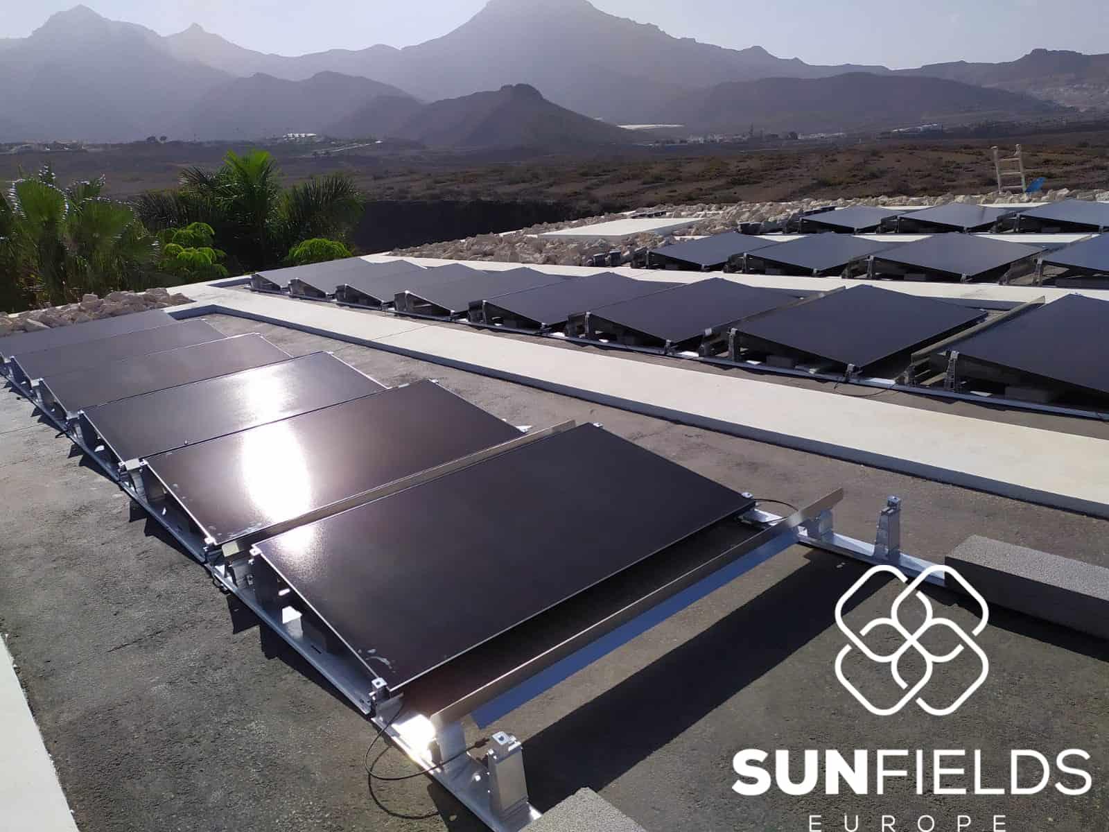 Instalación fotovoltaica con paneles SunPower P3 Black