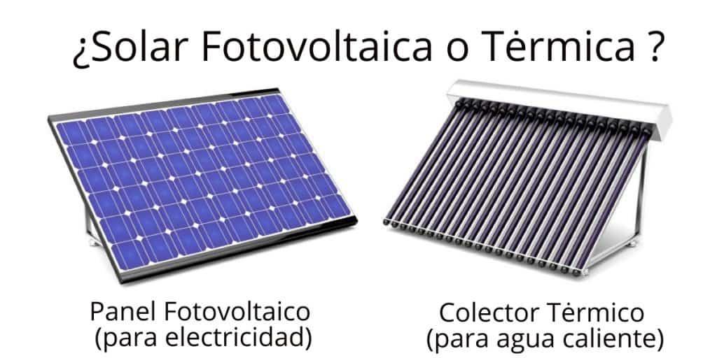 Energía solar térmica frente a fotovoltaica