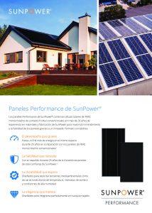 Características Tecnología SunPower Performance (P3-P19) en Español