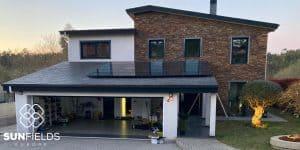 Vivienda tejado solar 6kW en Lugo